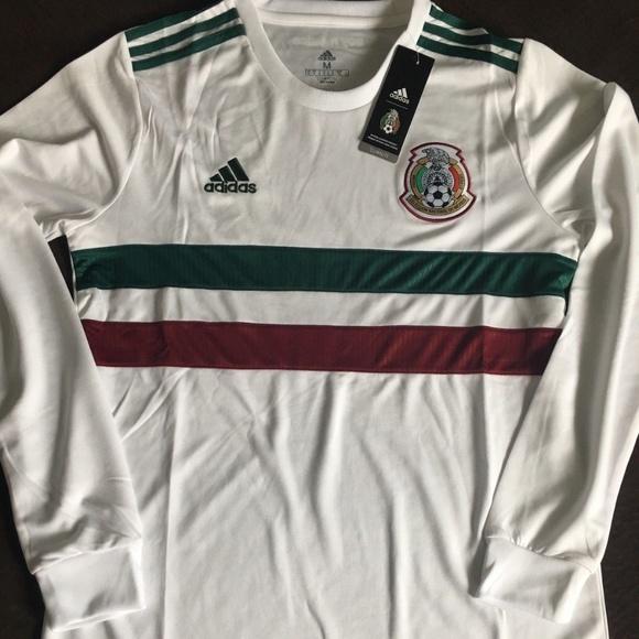 c46f1b30842 adidas Shirts | Mens Mexico 1819 Away Long Sleeve Jersey | Poshmark